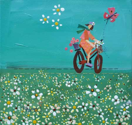 Riding in a Field of Daisies